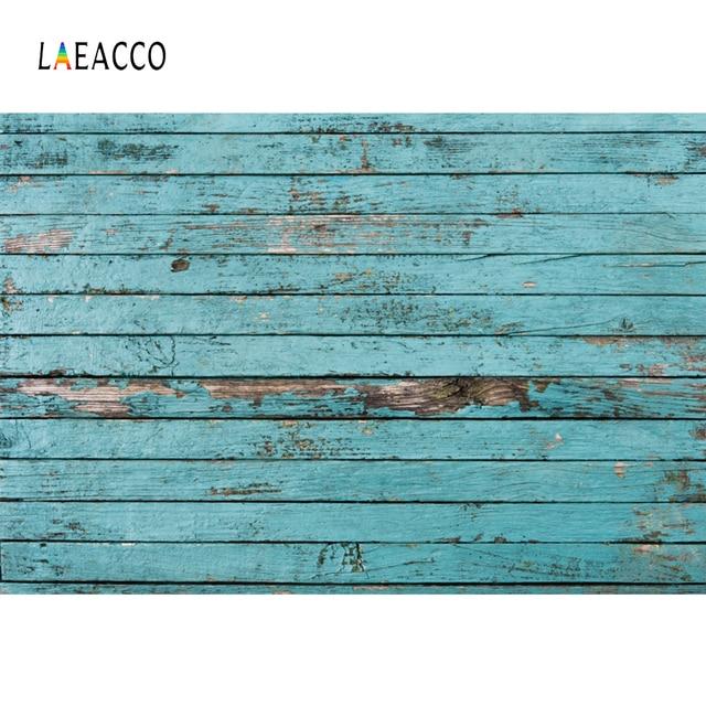 Laeacco Hardwood Backdrops Fade Blue Planks Board Texture Home Decor Pet Doll Portrait Photo Backgrounds Photocall Photo Studio
