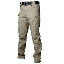 Mężczyźni IX9 spodnie taktyczne spodnie bojowe armii wojskowe spodnie męskie spodnie Cargo spodnie wojskowe SWAT styl na co dzień wielu kieszenie spodnie na co dzień 4XL 5XL tanie tanio Pełnej długości Mieszkanie Suknem Army Cargo Pants Poliester Elastan COTTON Sznurek Midweight NONE REGULAR S M L XL 2XL 3XL 4XL 5XL