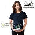 2016 Projeto Engraçado Presente de Natal Boneco De Neve Impressão de Maternidade Camisa Especializada para As Mulheres Grávidas Plus Size Tamanho XXXL Europeu