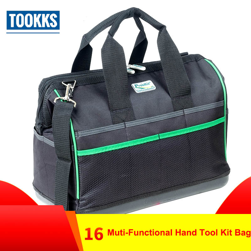 Pro'skit ST 5302 Multifunctional 16Heavy Duty Electrician Tool Bag Polyester durable Compact Repairment Tool Bag