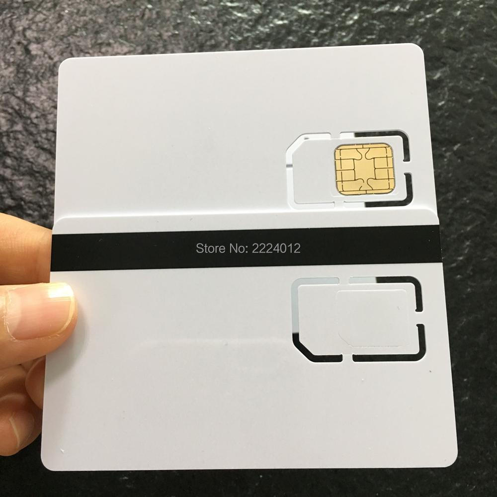 JCOP J2A040 40K With 2 Track HiCO Magstripe SIM Size 2FF Standard 3FF Micro Comobo Smart Card + TK Value