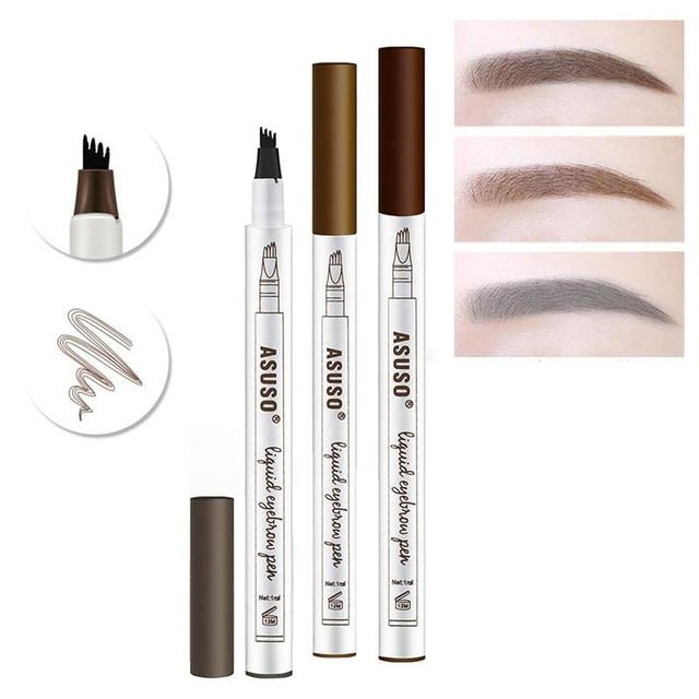 Microblading Eyebrow Tattoo Pen Waterproof Eye Makeup Easy Use Long Lasting Professional Eyebrow Pen Deep Color Pencil Eyebrow 5
