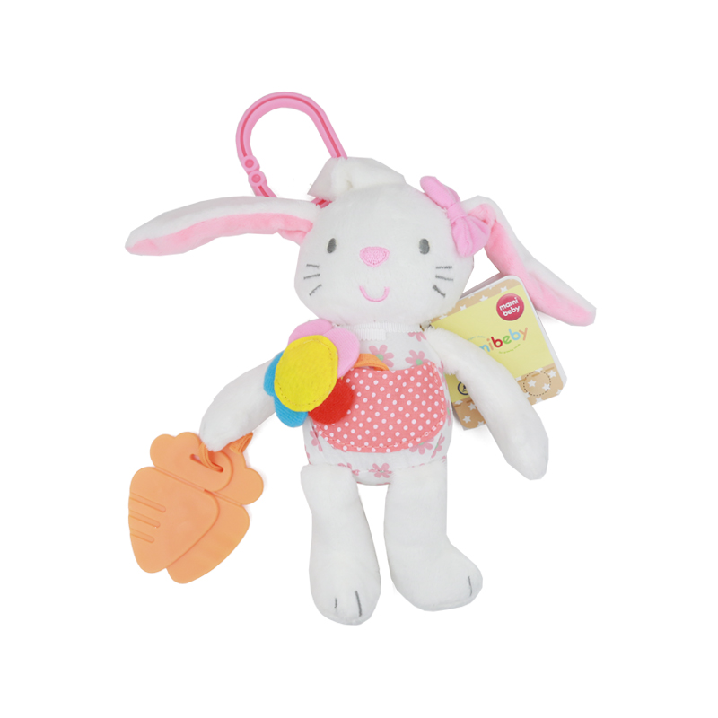 Baby Kids Toy  Ring Bell Crib Bed Hanging Animal Soft Rabbit Bunny Plush Rattle Teether Multifunction Doll 50% off