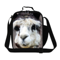 Dispalang Animal Lunch Box For Kids Alpacas Illustration Picnic Bag For Students Cool Thermal Lunch Box For Boys Bento Pouch