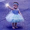 Cinderella Baby Dress Princess Cosplay Halloween Costume Little Girl Tutu Dress and Headband 2 Piece with Tutu Birthday PT168