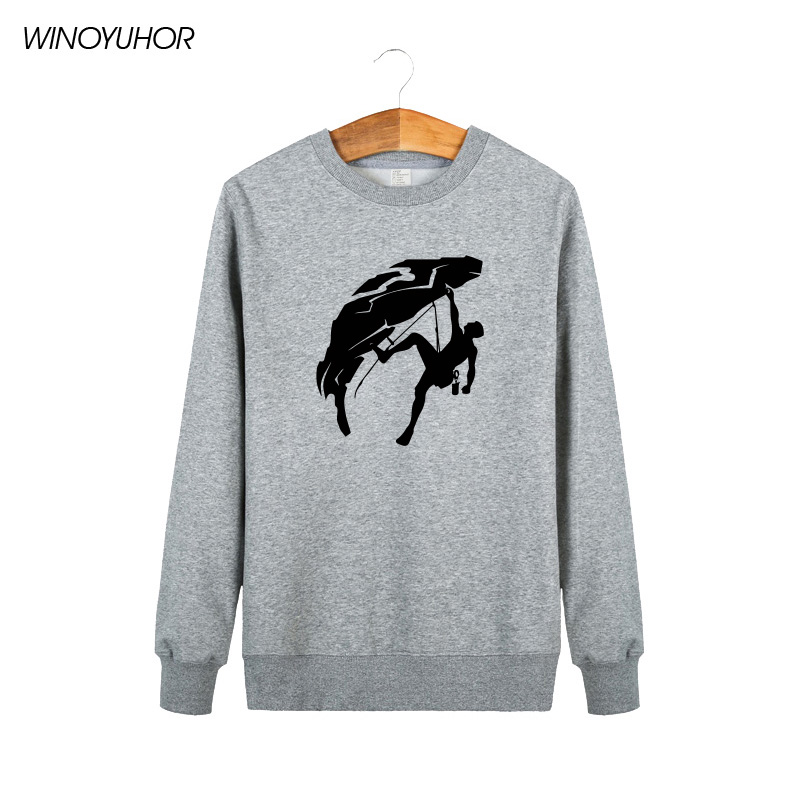 Climber Hoodies Men Winter New Fashion Style Crew Neck Long Sleeve Sweatshirts Climb Maximal Exercise Print Male Tops