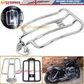 Motocicleta Portaequipajes Estante de Soporte Apto Para Stock Asiento Solo Harley Sportster XL883 XL1200 2004-2012 Portaequipajes Cromado