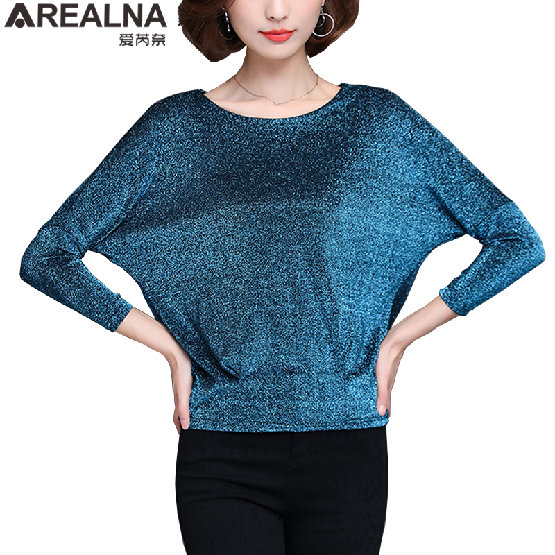 4000cde89e8f15 Shiny Sequin Blouse Women Tunic Fashion Woman Blouses 2019 Spring Summer OL  Womens Tops and Blouses Plus Size Bat Sleeve Shirts