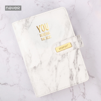 Never Marble Series Leather Cover Binder Notebook Personal Diary Agenda A6 Planner Organizer Gift Packing Office School Supplies|Notebooks| |  -