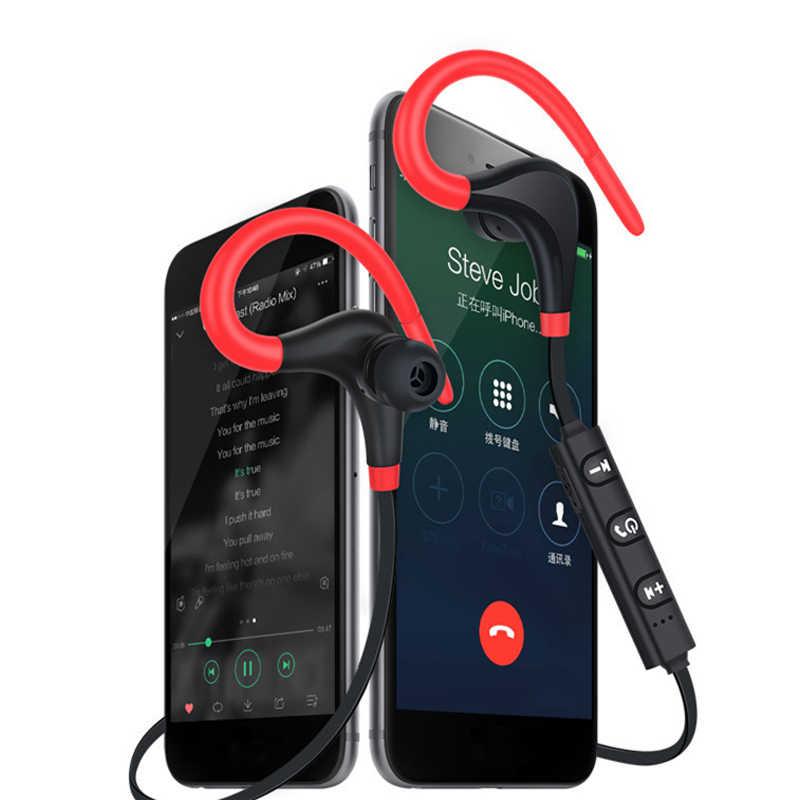 ワイヤレス Bluetooth スポーツイヤホン Bluetooth ヘッドセットとマイク耳フック Iphone すべて Smar