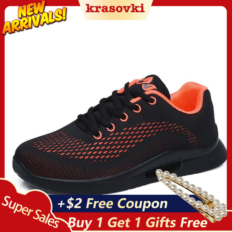 Krasovki air mesh Women Sneakers Casual Shoes Spring Autumn Summer Platform Breathable Comfortable Ladies