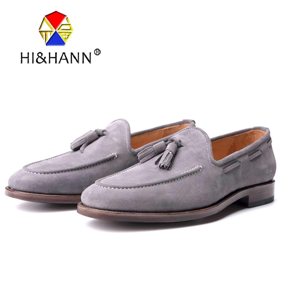 Goodyear Handmade Suede Genuine Leather Men Loafers Men Wedding and Party shoes Men Flats Size US 6-13 Free shipping 2016 new fashion embroidery genuine leather man shoes handmade wedding and party male loafers men flats size 39 47 free shipping