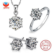 Luxurious Model 100% Actual 925 Sterling Silver Jewellery Units Luxurious CZ Diamond Wedding ceremony Engagement Bridal Units For Ladies African YS052