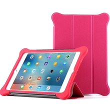 Case For iPad mini1234 silicone leather cover flap is detachable, shockproof and fully enclosed Hibernate