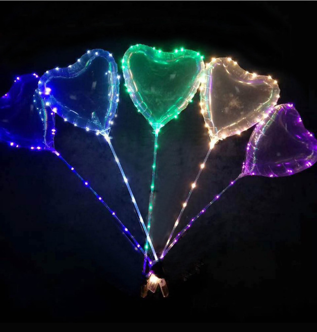 NEW LED balloon Each set includes 18 inch heart shaped luminous balloon 3M LED light bar
