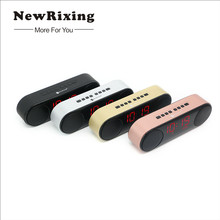 NewRixing Speaker Portable Bluetooth Speaker Wireless Stereo Music Soundbox with LED Time Display Radio Alarm Clock Speaker TF(China)