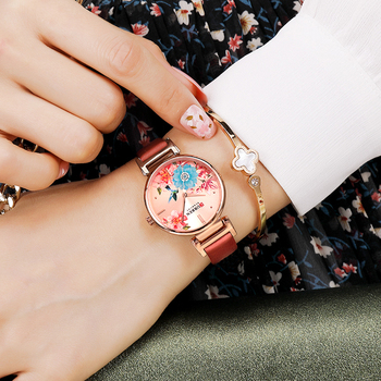 CURREN-Reloj de cuero para Mujer, novedad de verano, de cuarzo, de pulsera,...