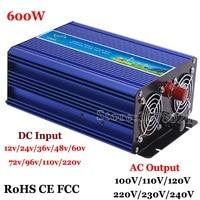 Venta Inversor de rejilla de 600 W inversor de onda sinusoidal pura solar y sistema de viento