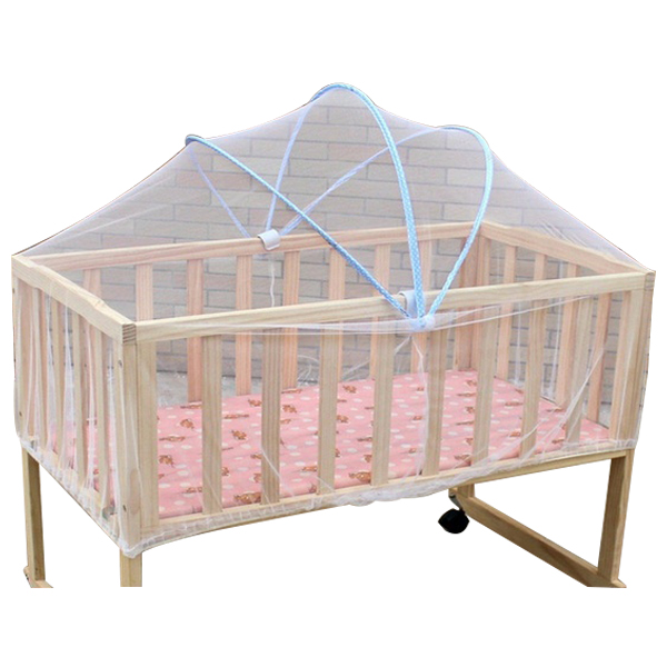 LCLL-Summer White Safe Baby Mosquito Nets Cradle Bed Canopy Mosquito Net Toddler's Crib Cot Netting Bedroom Accessories