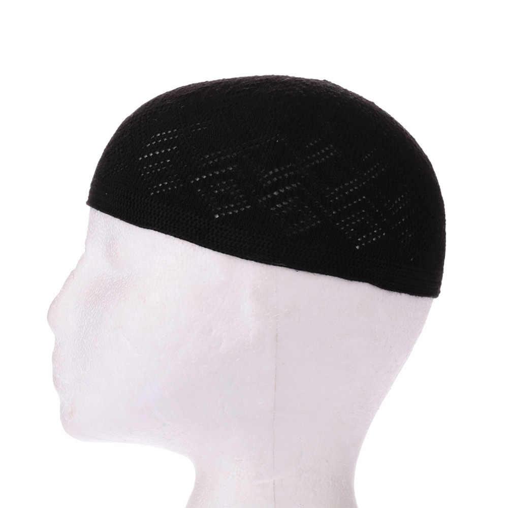 Gorro Beanie ตุรกีมุสลิมอิสลามหมวก Kufi Taqiyah Takke Peci หมวกสวดมนต์หมวก