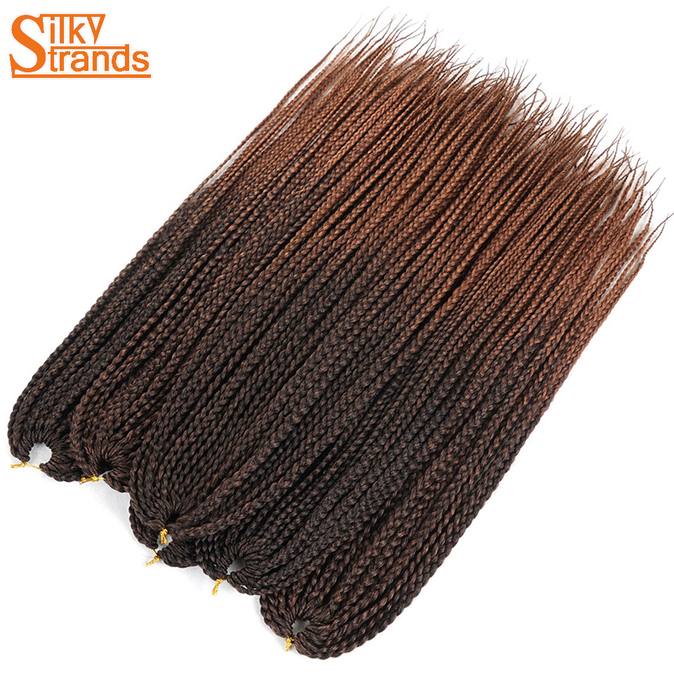 Sedoso Strands Crochet trenzas Medium Box Braid extensiones de pelo ...