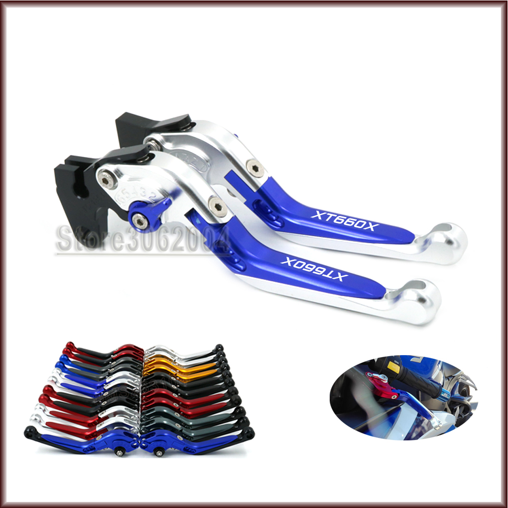 For YAMAHA XT660X XT 660X XT660 2004-2013 2012 2011 Motorcycle Accessories Folding Extendable Adjustable Brakes Clutch Lever CNC fx cnc foldable extendable motorcycle brake clutch lever for kawasaki z750 2007 2012 z800e version 2013 2016 moto accessories