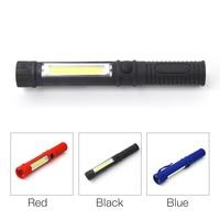 New LED Mini Pen Multifunction led Torch light cob Handle work flashlight cob Work Hand Torch Flashlight (Without 3*AAA )P00