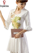 Princess Sweet Lolita Dress Sweet Summer Chinese Ancient Style Refreshing A Shaped Princess Embroidery S Dress YY942