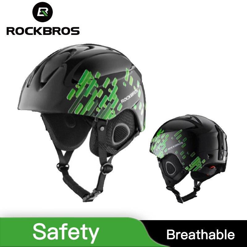 ROCKBROS casque de Ski intégral-moulé casque de Ski de sécurité protéger adulte enfants thermique ultra-léger Snowboard planche à roulettes coiffe de tête
