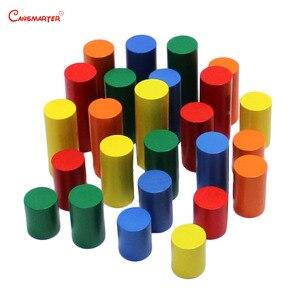 Image 5 - Montessori Sensoiral oyuncaklar geometrik adım silindir matematik yeni yürümeye başlayan çocuklar Kingarten renk eğitim eğitici oyuncak çocuklar için