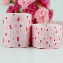 a1c4901563 10 metros bonito dos desenhos animados impressão padrões correias rosa  grosso tecido banda de fita de gorgorão meninas hairband .