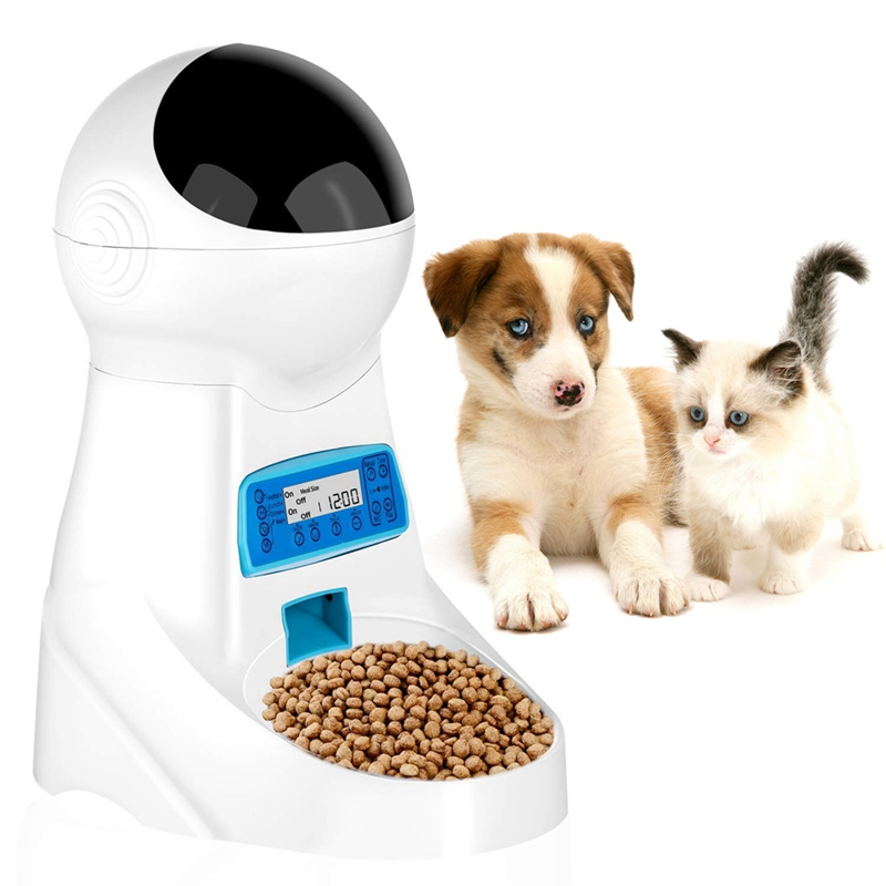 Pet Automatic Feeder Regular Time Quantities Smart Dogs Cats Food Dispenser Puppy Kitten Feeding BowlPet Automatic Feeder Regular Time Quantities Smart Dogs Cats Food Dispenser Puppy Kitten Feeding Bowl