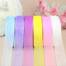 50 yards 45M silk organza double-sided transparent ribbon wedding Christmas party decoration DIY scrapbook gift wrapping