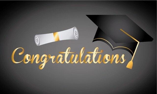 7x5FT Grey Campus Graduation Degree Congratulations Books Hat Custom