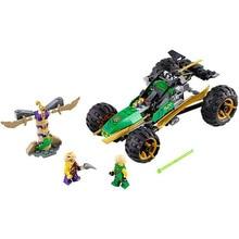 187pcs ninjagoes Ninja Marvel Building Blocks Jungle Raider Action Figures Toys Model Compatible drop shipping