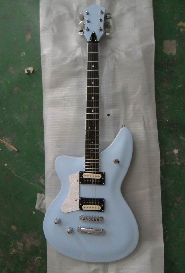 New Arrival Customize electric guitar OEM left handed Free Shipping in light blue 130801-25