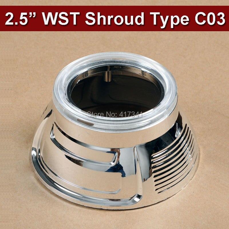 e454732b6b9dc 2.5 pulgadas Mini proyector lente máscara 2 unids lote para 2.5 pulgadas H1  leader WST Bi-Xenon lente del proyector del coche faro Retrofit