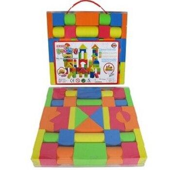 Construcción de bloques de ladrillo seguro de EVA para niños, construcción de espuma con forma geométrica, ejercicios de inteligencia para niños, edificios educativos de aprendizaje
