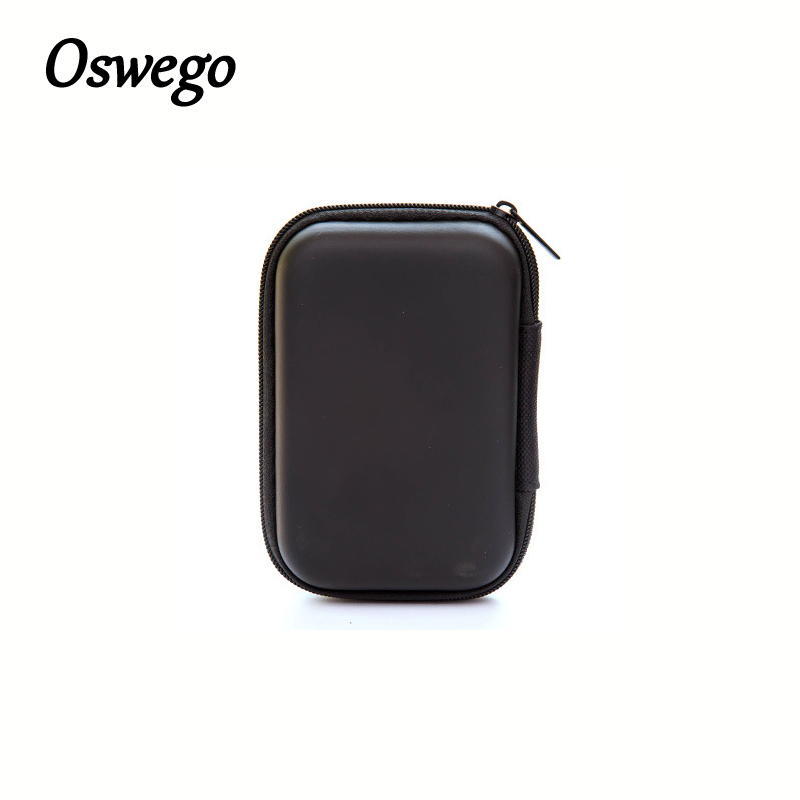 Oswego Colorful Zipper EVA Headset Coin Finger Spinner Box Portable Compact Coin Cases Storage Bank Money Holder Organizer Box the football game comes to coin money toy box pastic coin cases hidden safe kids piggy bank money toy game bank safe magic jbzq