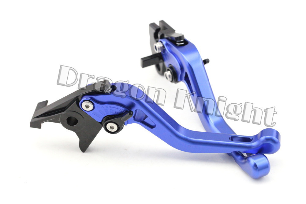 Motocycle Accessories For YAMAHA FZS 600 FAZER 98-03 Short Brake Clutch Levers Blue motocycle accessories front