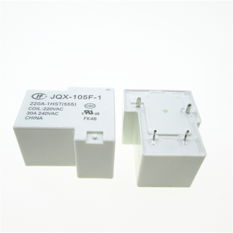 JT105F-4-024D-1HS 24VDC 30A 240VAC Power Relay 4 Pin