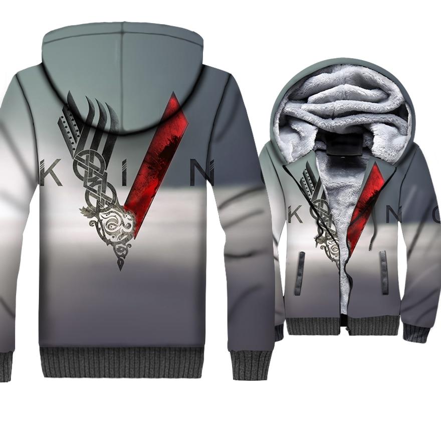 Image 4 - VIKINGS 3D Jackets New Fashion Streetwear Hoodies For Men 2018 Autumn Winter Hip Hop Men's Sweatshirts Viking Harajuku Hoddies-in Hoodies & Sweatshirts from Men's Clothing