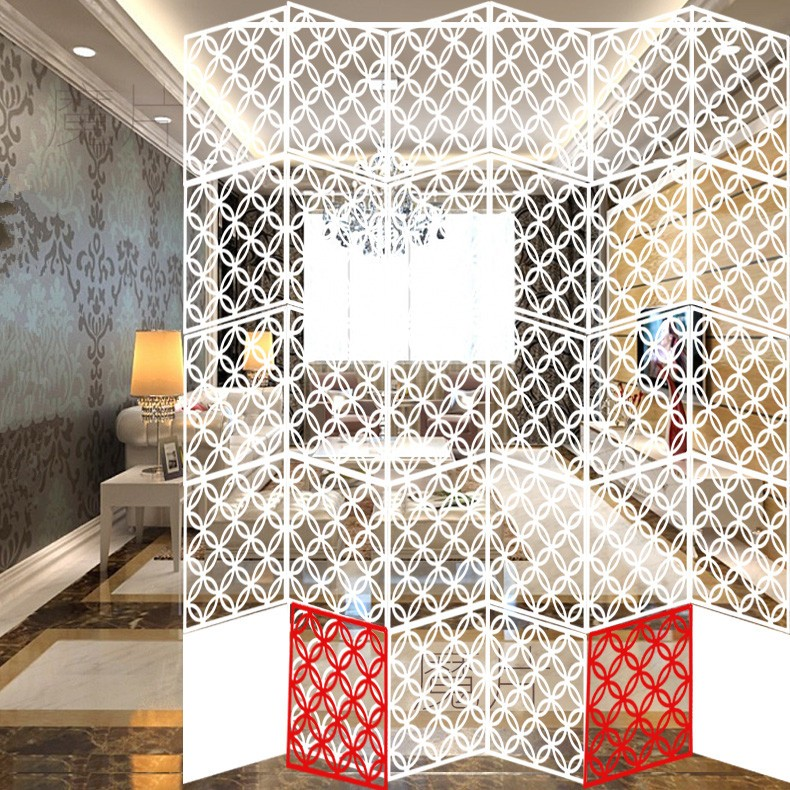 Screen Door hanging screen Hollow Paper-cuts for Window Decoration Wall Sticker TV background wall Biombo 40*40CM