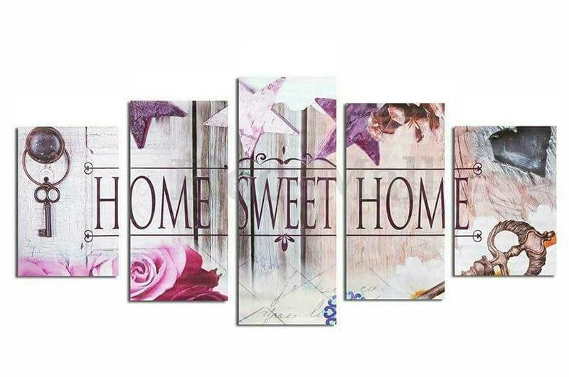 ZOOYA 5D DIY Diamond Embroidery Home Sweet Home Diamond Painting Cross Stitch Full round Rhinestone Mosaic wall art Decoration