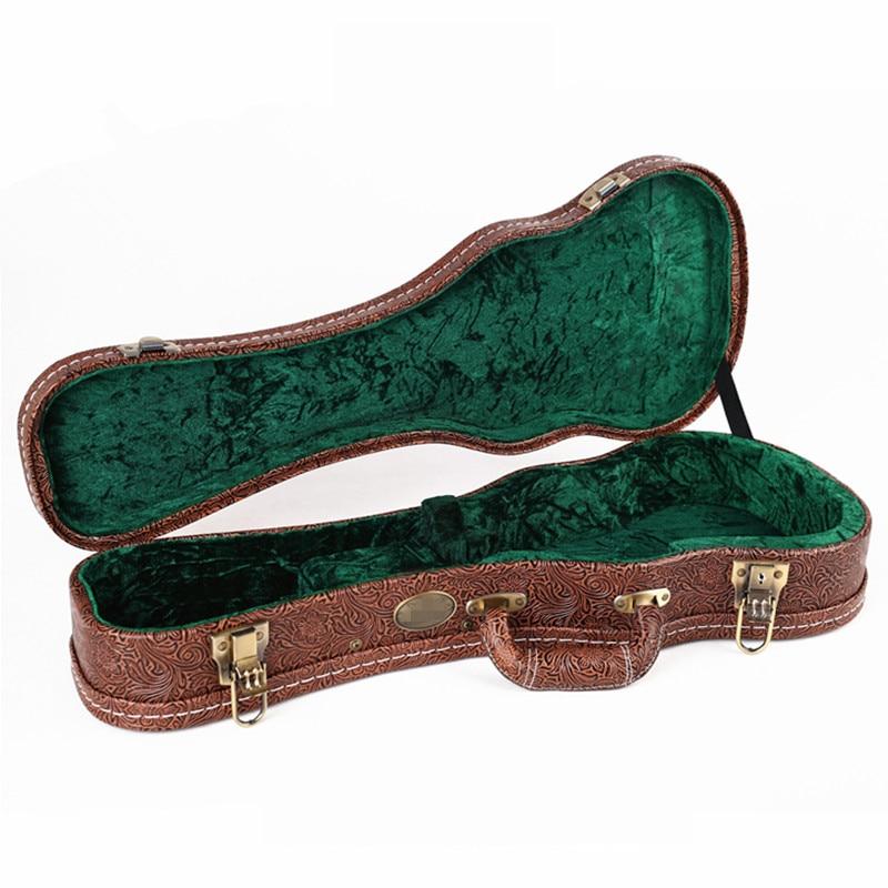 Afanti Music 21 size / 23 size / 26 size / 28 size Ukulele Guitar Bag (FTG-228) 12mm waterproof soprano concert ukulele bag case backpack 23 24 26 inch ukelele beige mini guitar accessories gig pu leather