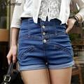 Sunfree 2016 New Hot Sale Womens Girl Denim High Waist Lady Shorts Jeans Pants Vintage Cuffed Brand New High Quality Dec 7