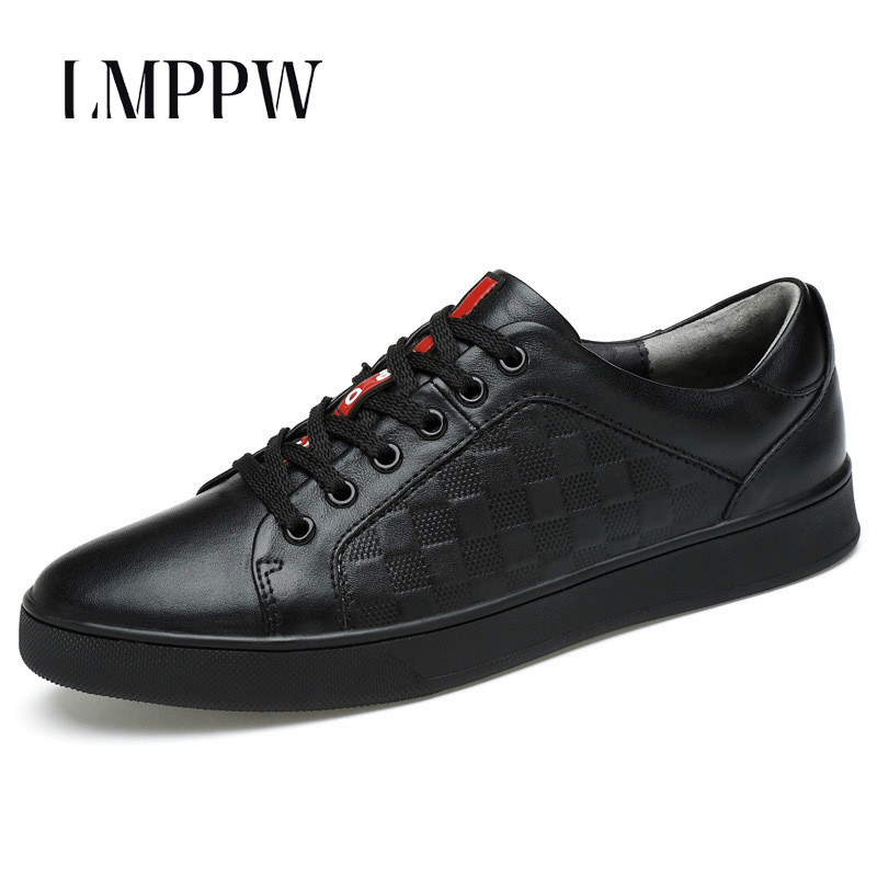 Genuine Leather Men Shoes Luxury Brand Men Lace-up Sneakers Black White Soft Comfortable Fashion Designer Men Flats Casual Shoes grimentin fashion 2016 high top braid men casual shoes genuine leather designer luxury brand men shoe flats for leisure business