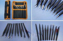 1set 9in1 Tweezers Kits for FPV RC Tools Pointed/Bend/Chamecephaly Tweezers for RC Spare Parts Accessories