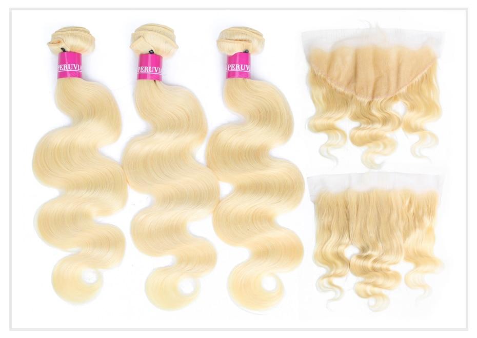 HTB1qlGZaJzvK1RkSnfoq6zMwVXa7 Monstar Brazilian Hair Weave Bundle Deals 613 Honey Blonde Body Wave Remy Human Hair Bundles with Closure 13x6 Lace Frontal