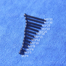 M3*4/5/6/8/10/12/15/18/20/22/25/30/35 black 1pcs nylon Round Head Philips Screws plastic Insulation bolts PC/board DIY hobby